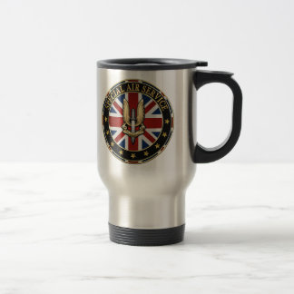 [200] Special Air Service (SAS) Badge [3D] Stainless Steel Travel Mug