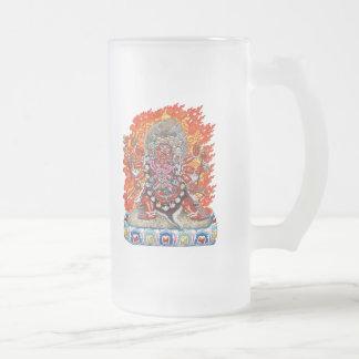 [200] Tibetan Thangka  - Wrathful Deity Hayagriva Frosted Glass Mug