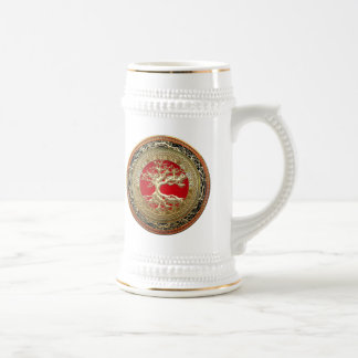 [200] Treasure Trove: Celtic Tree of Life [Gold] Beer Stein