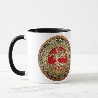 [200] Treasure Trove: Celtic Tree of Life [Gold] Mug