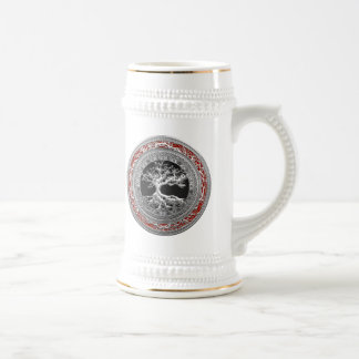 [200] Treasure Trove: Celtic Tree of Life [Silver] Beer Stein