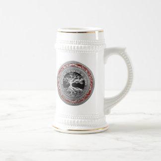[200] Treasure Trove: Celtic Tree of Life [Silver] Beer Steins