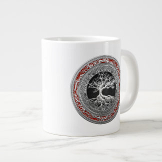 [200] Treasure Trove: Celtic Tree of Life [Silver] Giant Coffee Mug