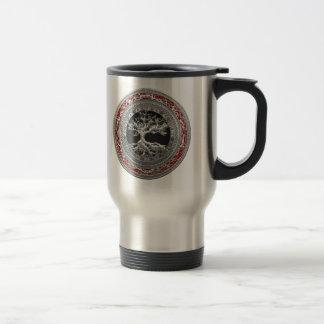 [200] Treasure Trove: Celtic Tree of Life [Silver] Travel Mug