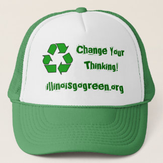 200px-Recycle001.svg, illinoisgogreen.org, Chan... Trucker Hat