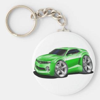2010-11 Camaro Green Car Basic Round Button Key Ring