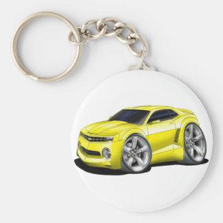 2010-11 Camaro Yellow car Basic Round Button Key Ring