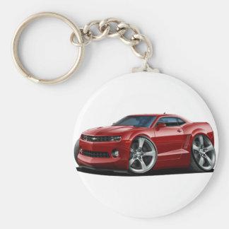 2010-12 Camaro Maroon Car Basic Round Button Key Ring