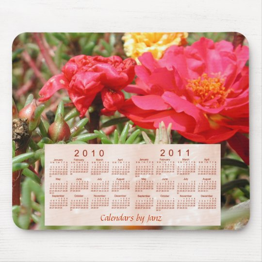 2010-2011 Floral Calendar Mouse Mat