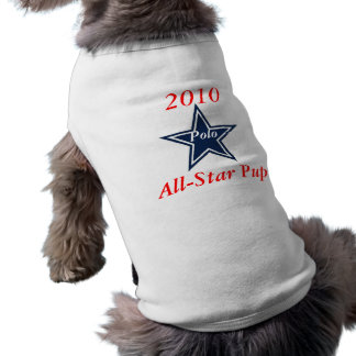 2010 All-Star Pup, Polo Sleeveless Dog Shirt