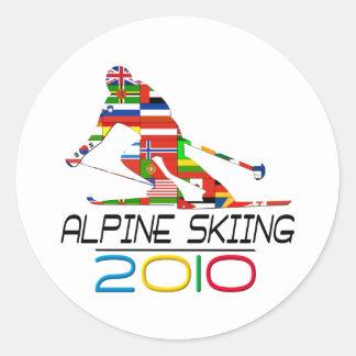 2010: Alpine Skiing Sticker