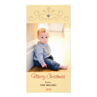 2010 bling christmas card picture card