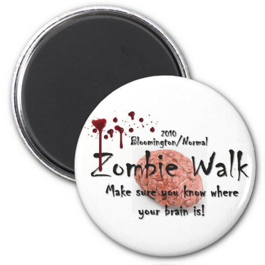 2010 Bloomington/Normal zombie walk 6 Cm Round Magnet