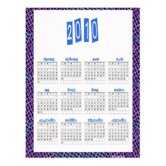 2010 Calendar Postcard