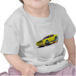 2010 Camaro Yellow-Black Car Tee Shirt