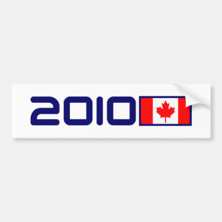 2010 Canada FLAG Bumper Sticker