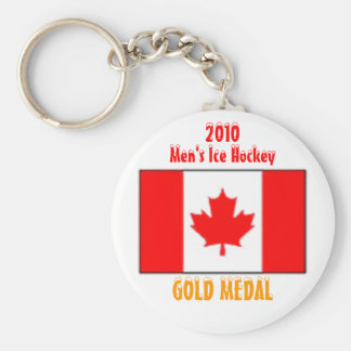 2010 Canada Men's Ice Hockey - Gold Medal Basic Round Button Key Ring