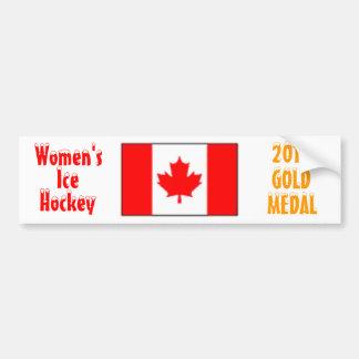 2010 Canada Women's Ice Hockey - Gold Medal Car Bumper Sticker