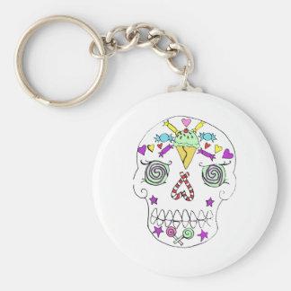 2010 Candy Skull Sugar Skull Keychain