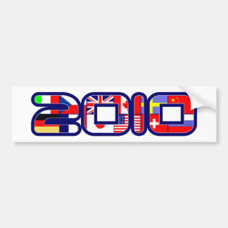 2010 Country FLAGS Bumper Sticker