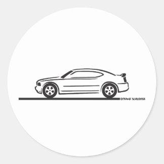 2010 Dodge Charger Round Sticker