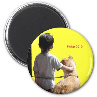 2010 Dog 6 Cm Round Magnet