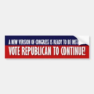 2010 Election - Vote Republican Car Bumper Sticker