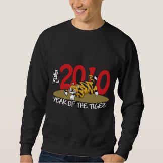 2010 Funny Year of The Tiger Black Sweatshirt