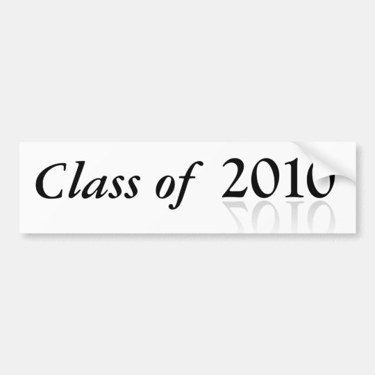2010 Graduation bumper sticker Class of 2010 -w