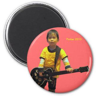 2010 Guitar 6 Cm Round Magnet