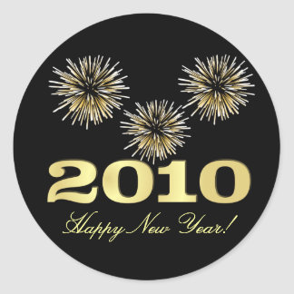 2010 Happy New Year Sticker Labels