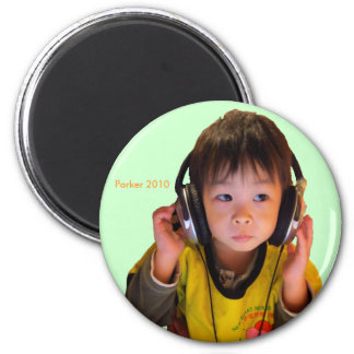 2010 Headphones 6 Cm Round Magnet