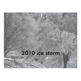 2010 ice storm post cards