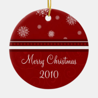 2010 Merry Christmas Ornament