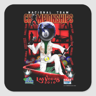 2010 National Team Championships Square Sticker