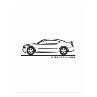 2010  New Dodge Charger Postcard