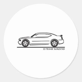 2010  New Dodge Charger Round Sticker