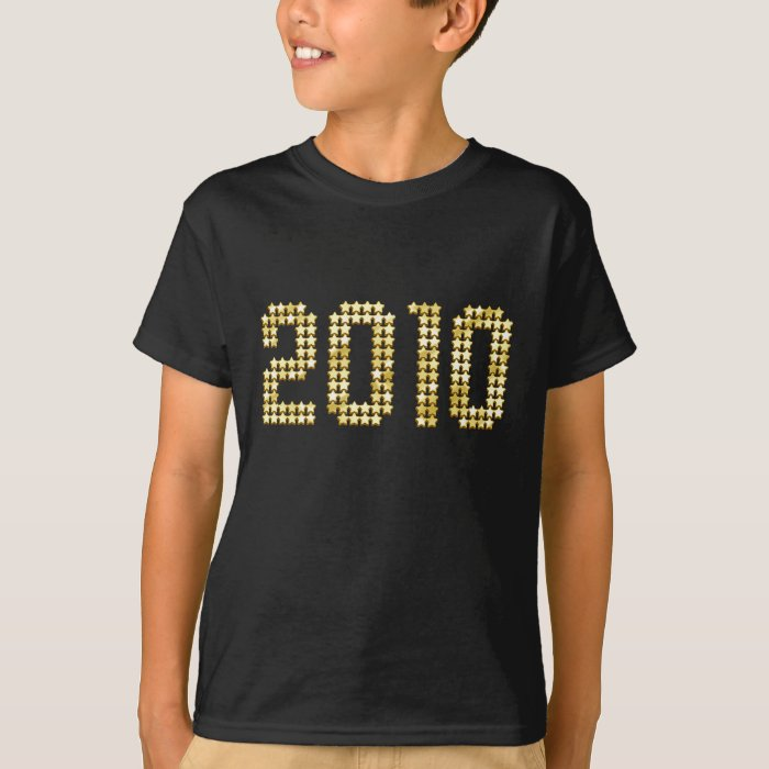 2010 New Years gold stars New Year Gifts T-Shirt