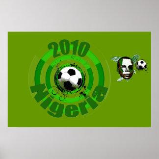 2010 Nigeria Soccer goal circles artwork gear Posters