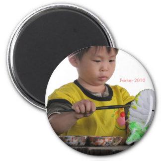 2010 Painter 6 Cm Round Magnet