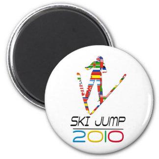 2010: Ski Jump 6 Cm Round Magnet