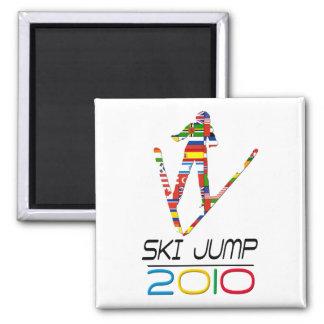 2010: Ski Jump Square Magnet