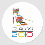 2010: Slalom Round Sticker