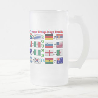 2010 Soccer Group Stage Results  Round # 2 Frosted Glass Mug