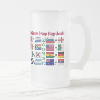 2010 Soccer Group Stage Results  Round # 3 Frosted Glass Mug