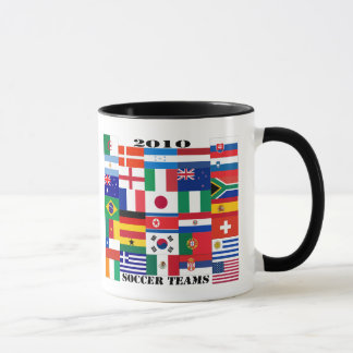 2010 Soccer Teams Flags Mug