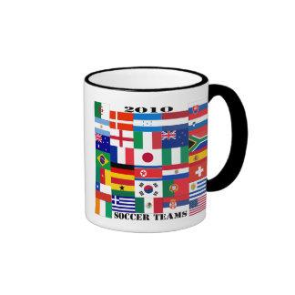 2010 Soccer Teams Flags Ringer Mug