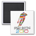 2010: Speed Skating Fridge Magnet