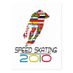 2010: Speed Skating Postcard