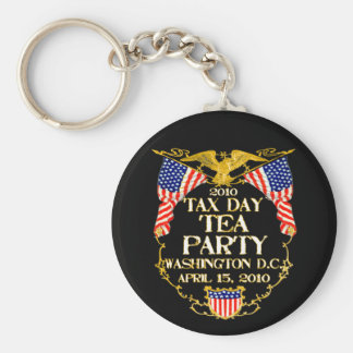 2010 Tax Day Tea Party Basic Round Button Key Ring
